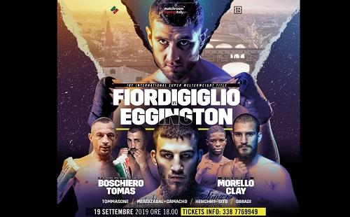 Giovedì torna a Firenze la grande boxe per la Matchroom Boxingitaly con Fiordigiglio, Boschiero e Morello attesi a sfide molto impegnative