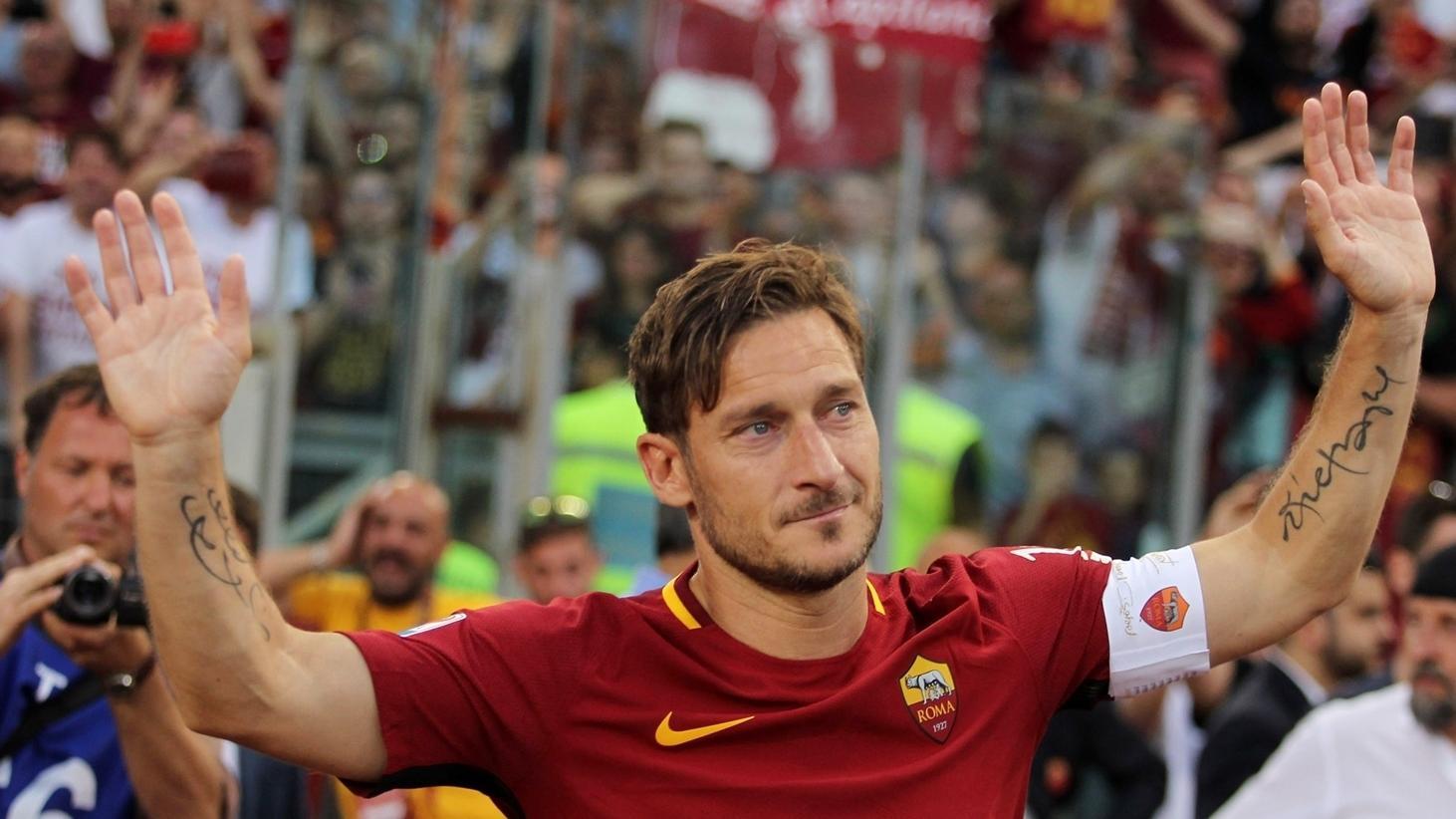 Tre anni fa il saluto di Francesco Totti