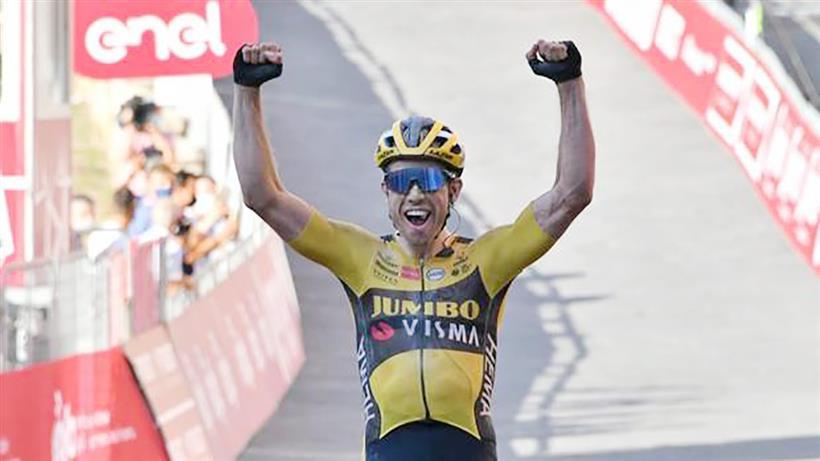Amstel Gold Race 2021, vince Van Aert davanti a Pidcock